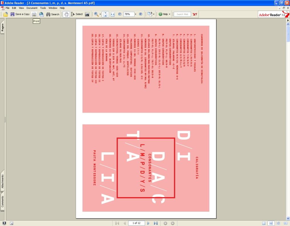 ¿Cómo imprimo mi cuadernillo?